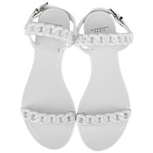 Plastic chain beach shoes candy color jelly sandals chain flat bottomed out sandals simple design flat sandals for women