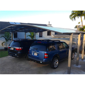 2 car lowes metal aluminum carports with polycarbonate sheet