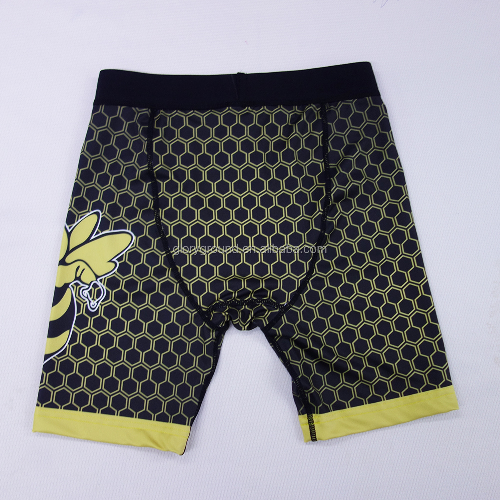 Custom sublimated compression shorts men