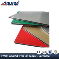 Alusign exterior cheap garage wall finishing material aluminium composite panel