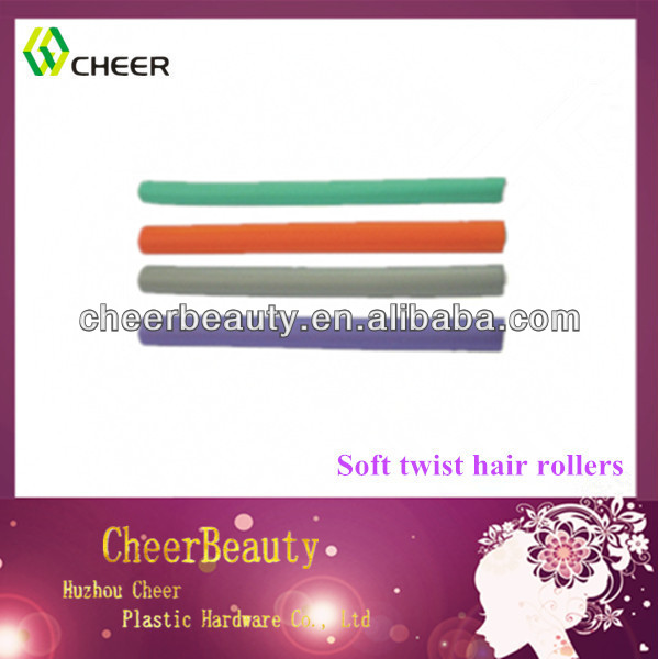 Rubber foam bendy rollers for hair styling plastic twist rollers