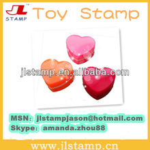Heart shape Toy red ink pad Stamp