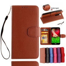 Factory Prcie Litchi PU Leather Case For LG G2 Mini Leather Flip Wallet Card Holder Case