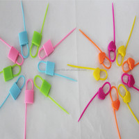 lock shape silicone cable tie
