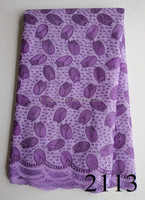 Purple African Swiss Voile Lace cotton Swiss voile lace fabric/unique embroidery Swiss voile laces for wedding party