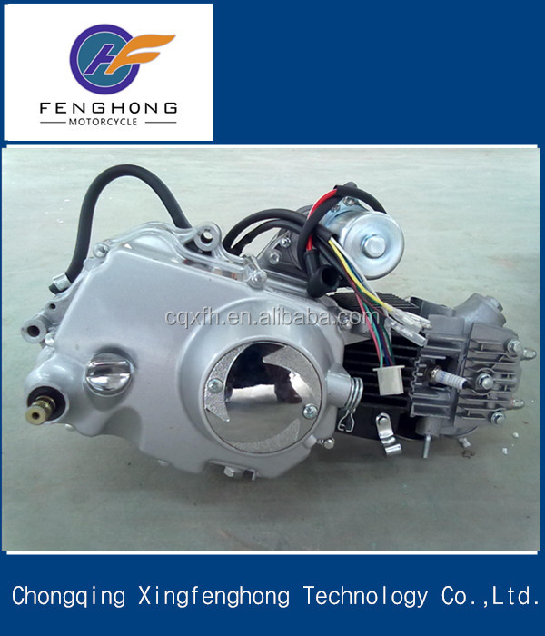China motorcycle engine 50cc 70cc90cc 110cc 125cc 100cc vertical reverse wave horizontal 4 stroke air cooled kick&electr