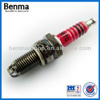 3 head motorcycle spark plug with read color