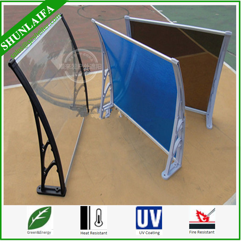 PC Awnings DIY Outdoor Shade Patio Polycarbonate PC Cover Canopy Window Door Shelter
