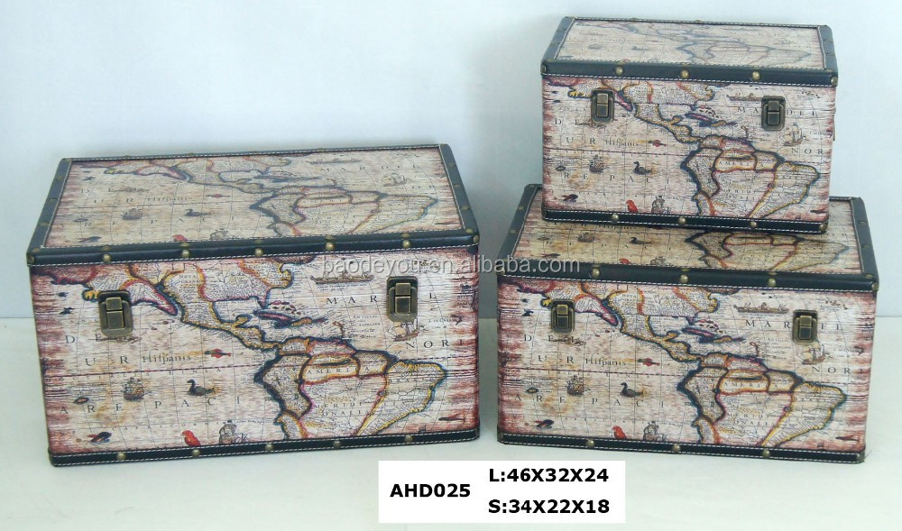 Map surface pirate treasure chest wholesale