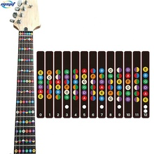 Standard Edition Color Coded Fretboard Fret Map Guitar Note Stickers for Beginner to Advanced Learning of Guitar