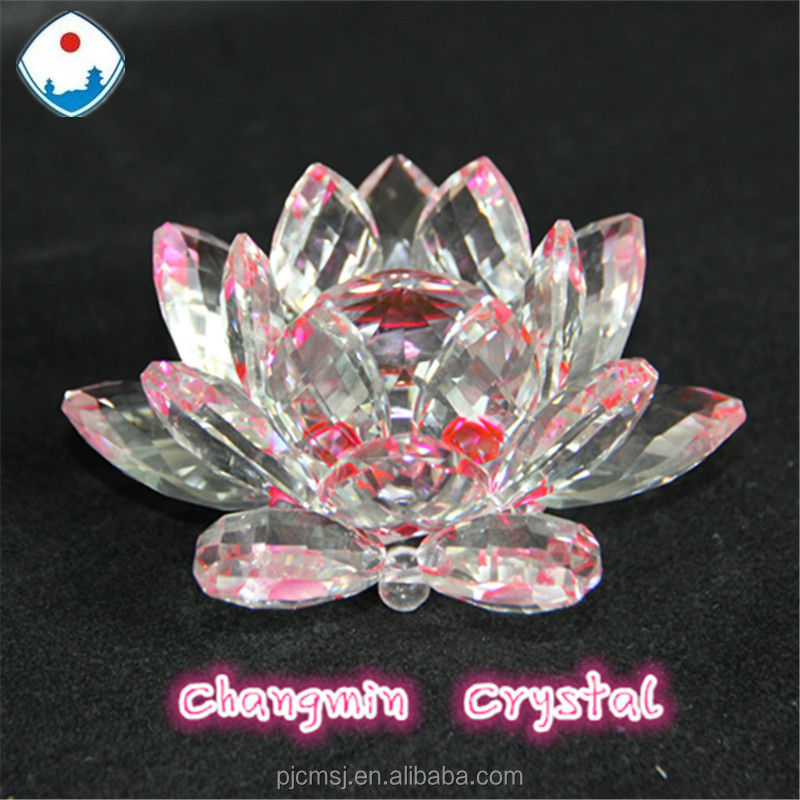 beautiful Crystal flower /crystal lutos for home decoration and religion
