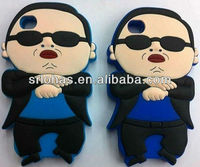 silicone phone cover for iphone case with gangnam style design