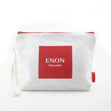 Wholesale Custom Print Blank Canvas Cosmetic Bag with Zipper