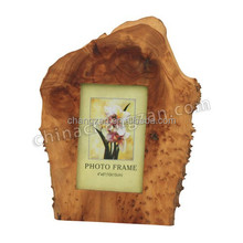 2017 Natural Sharp Hot New Products Hand Carved Wooden Picture Frame Tree Fir Root Natural Shape Wooden Photo Frame
