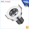 High lumen energy saving round shape dimmable recessed ceiling led spot light 3w 220v led spotlight fixture for shop store