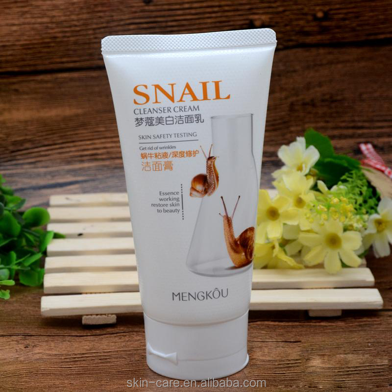 Mengkou wholesale snail mucus best face cleanser for oily skin