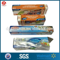 Wholesale Food Grade LDPE plastic double zip lock bag for food