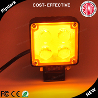 2016 hottest long lifespan and long distance 4d led work light offroad excavator, roller,bulldozer,crane tractor driving lights