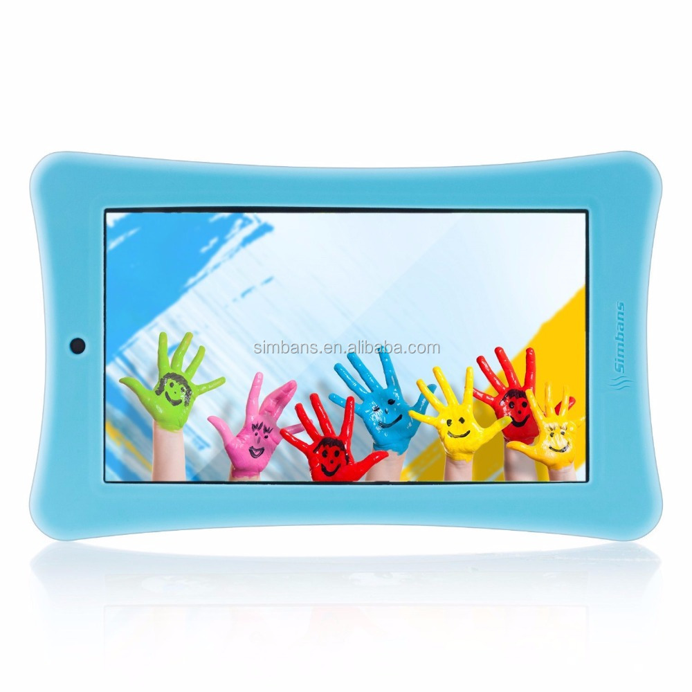 Simbans Funlet Blue 7 Inch Tablet for Kids Bundle - IPS screen, 1GB RAM, 8GB disk, WiFi, Android 5.1 Lollipop, Quad Core,