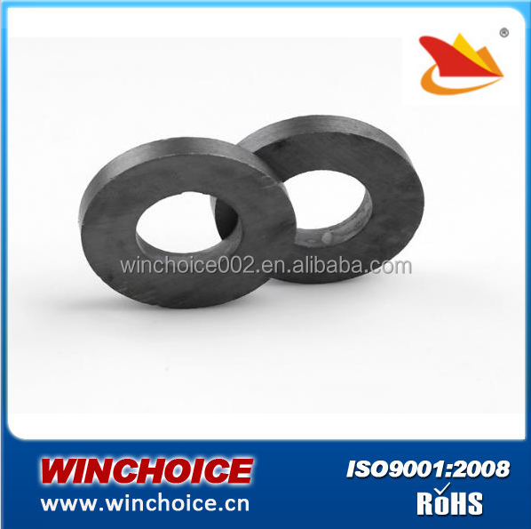 Anisotropic Permanent Ferrite Pot / Ring / Disc Magnets No Surface Coating