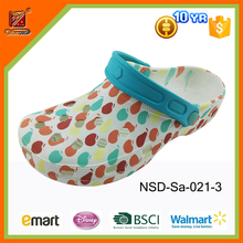 2016 fashion printing eva garden clogs