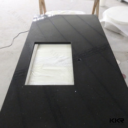 Black Sparkle Quartz Stone Kitchen Countertop