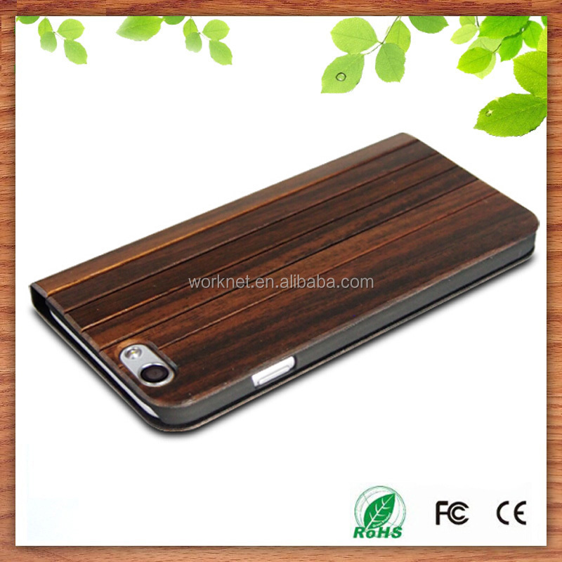 hot new products for 2015 padauk wood flip case for iphone5/5s, wooden phone case for iphone5c