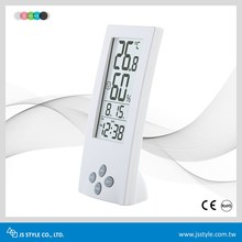 2017 High Precision See-Through LCD Desktop Digital Thermometer & Hygrometer Clock With Comfortable Index