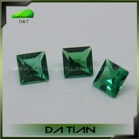 Fashion Jewelry Priness Cut Synthetic Precious Stones Emerald Green
