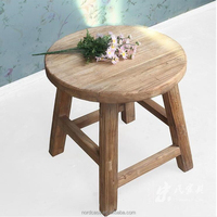 Chinese antique recycle natural elm wood rustic round dining table