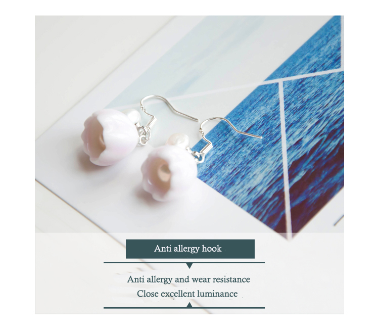 long cheap price cherry earrings anti allergy earrings latest design ceramic 2017 earrings drop for fashional women