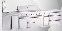 Top grade!! Full 304SS united professional grill with side burners with AGA,CE,CSA