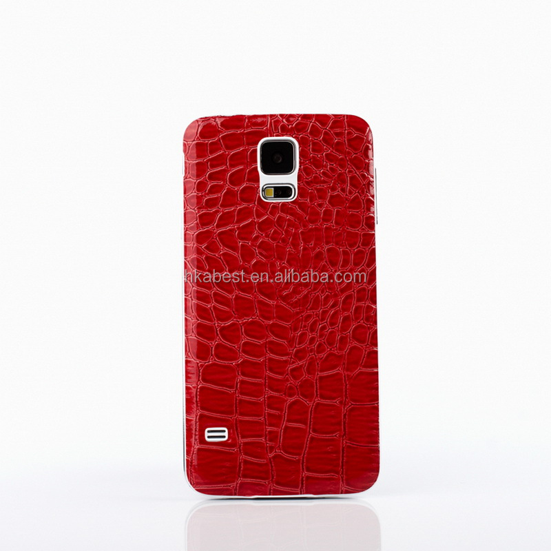 For Samsung Galaxy S5 i9600 PU Leather Battery Door Cover Replacement