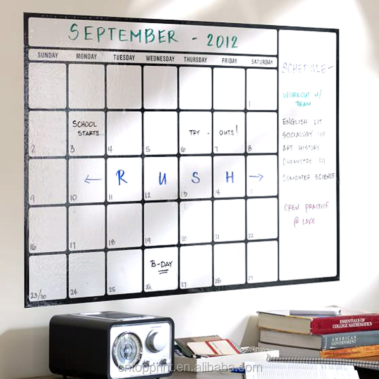 Big Size Wall Calendar Dry Erase Monthly Schedule