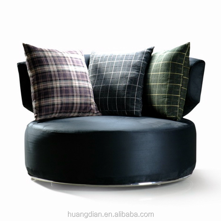 Custom made new sofa set design unique fabric round lounge armchair chair