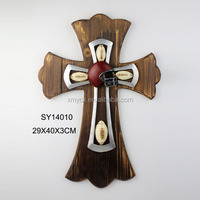 Wholesale polyresin wall cross for home indoor decoration