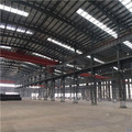 Prefabricated steel frame construction workshop