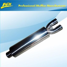 universal muffler used by stainless material with Y-pipe tail