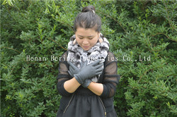 Hair sheep skin leather glove genuine leather glove leather gloves