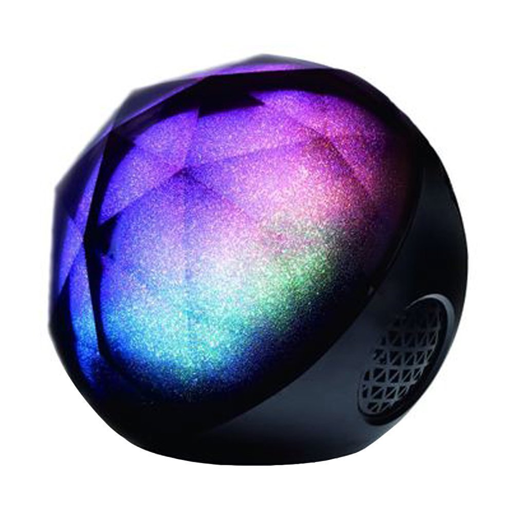 Round ball crystal blueotooth speaker,mini portable disco led crystal bluetooth speaker