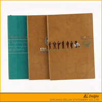 PU leather cover office cheap customized notebook