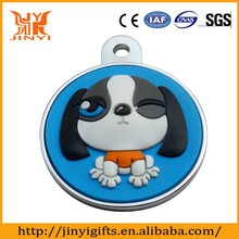 Personalized Animal Themed silicone Material Pet dog id tag