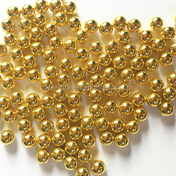 Factory direct sales excellent quality metallic gold round pearl