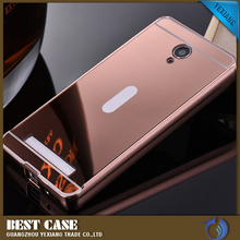 Hot sale aluminum bumper phone back cover case for vivo y28 mobile phone cover for vivo y28 metal bumper