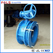 Factory sale gear operated flange connect butterfly valve