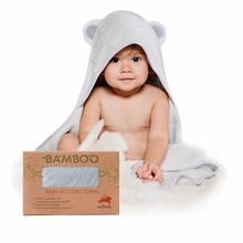 Amazon Factory natemia kiss extra soft antibacterial gray baby organic bamboo cotton hooded swimming towel products with ear