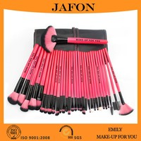 Two colored synthetic hair makeup high quality 32 pcs brush set