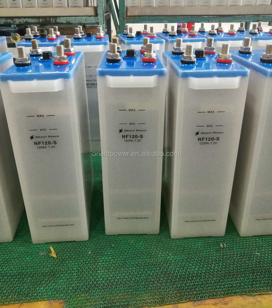 600Ah solar nickel ion battery standard 20 years Life 11000 cycle Nickel Iron Battery for sale