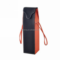 recycle material promotional genuine leather wine bag carrier