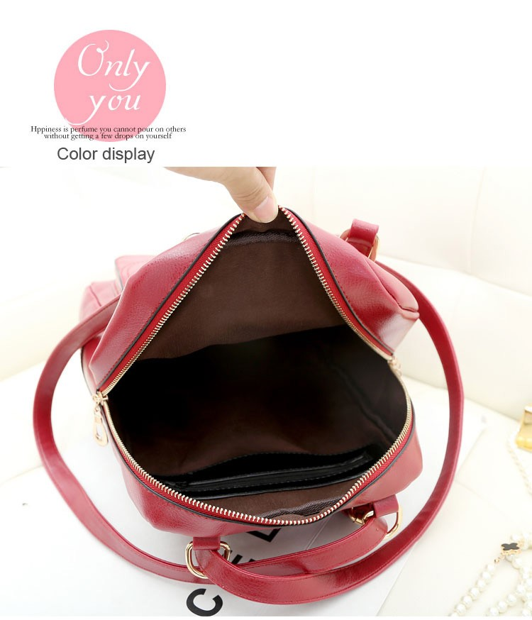 Newest Fashional High Quality Customer Pu leather School Backpack Bag
